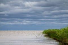Λίμνη Peipus στην ανατολική Εσθονία Στοκ Εικόνες