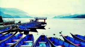 Λίμνη Phewa Διανυσματική απεικόνιση