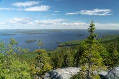 Λίμνη Pielinen στο εθνικό πάρκο Koli στη Φινλανδία στοκ εικόνες με δικαίωμα ελεύθερης χρήσης