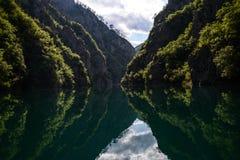 Λίμνη Piva Στοκ Φωτογραφία