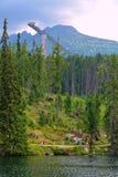 Λίμνη pleso Strbske σε υψηλό Tatras σε Slavakia Στοκ εικόνες με δικαίωμα ελεύθερης χρήσης