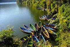 Λίμνη Pokhara Phewa Στοκ φωτογραφίες με δικαίωμα ελεύθερης χρήσης