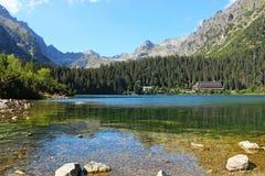 Λίμνη Poprad στα υψηλά βουνά Tatras, Σλοβακία Στοκ Εικόνα