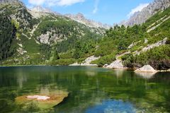 Λίμνη Poprad στα υψηλά βουνά Tatras, Σλοβακία Στοκ εικόνες με δικαίωμα ελεύθερης χρήσης