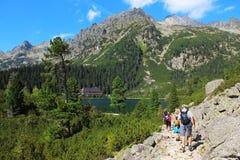 Λίμνη Poprad στα υψηλά βουνά Tatras, Σλοβακία Στοκ φωτογραφία με δικαίωμα ελεύθερης χρήσης