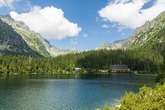 Λίμνη - Popradzki Staw (pleso Popradske) Στοκ Φωτογραφίες