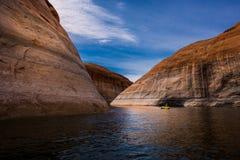 Λίμνη Powell Γιούτα Kayaking στοκ φωτογραφίες με δικαίωμα ελεύθερης χρήσης