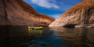 Λίμνη Powell Γιούτα Kayaking στοκ φωτογραφία