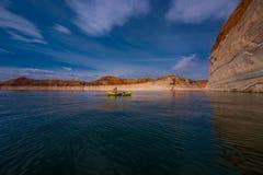 Λίμνη Powell Kayaking στοκ φωτογραφία με δικαίωμα ελεύθερης χρήσης