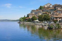Λίμνη Sabazia Bracciano Anguillara Στοκ φωτογραφία με δικαίωμα ελεύθερης χρήσης