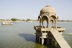 Λίμνη Sagar Gadi, Jaisalmer, Rajasthan, Ινδία, Ασία στοκ φωτογραφία