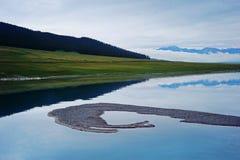 Λίμνη Sailimu Στοκ Εικόνες