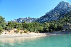 Λίμνη sainte-Croix Φαράγγι Verdon Παραλία και βουνά νότος της Γαλλίας στοκ εικόνες