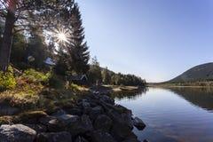 Λίμνη Skjeppsjoen, Νορβηγία στοκ φωτογραφίες