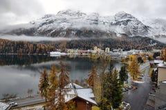 Λίμνη ST Moritz το φθινόπωρο Στοκ εικόνες με δικαίωμα ελεύθερης χρήσης