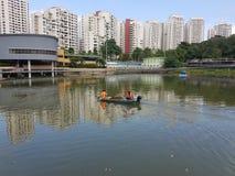 Λίμνη Sua πόνων σε Bukit Panjang, Σιγκαπούρη Στοκ φωτογραφία με δικαίωμα ελεύθερης χρήσης
