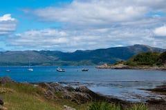 Λίμνη sunart Σκωτία Ηνωμένο Βασίλειο Ευρώπη στοκ φωτογραφία