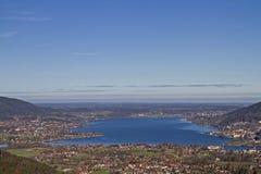 Λίμνη Tegernsee στην ανώτερη Βαυαρία Στοκ Εικόνες