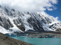 Λίμνη Tilicho και αιχμή Tilicho, Νεπάλ Στοκ εικόνα με δικαίωμα ελεύθερης χρήσης