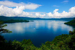 Λίμνη Towada, Ιαπωνία. Στοκ Φωτογραφίες