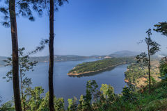 Λίμνη Umiam (λίμνη Barapani), Shillong, Meghalaya, Ινδία, Ασία στοκ εικόνες