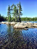 Λίμνη Waldo στο Όρεγκον Στοκ Φωτογραφίες