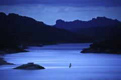 λίμνη windsurfer Στοκ εικόνα με δικαίωμα ελεύθερης χρήσης