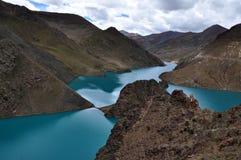 Λίμνη Yamdrok Στοκ φωτογραφία με δικαίωμα ελεύθερης χρήσης