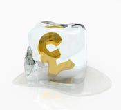λίρα αγγλίας πάγου κύβων ελεύθερη απεικόνιση δικαιώματος