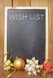 Λίστα επιθυμητών στόχων Χριστουγέννων Στοκ εικόνα με δικαίωμα ελεύθερης χρήσης