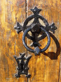 λαβή πορτών εκκλησιών στοκ φωτογραφία