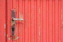 λαβή πορτών σκουριασμένη Στοκ Φωτογραφία