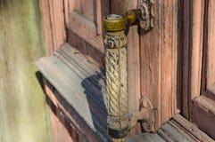 Λαβή πορτών στον αλλοτινό Στοκ εικόνες με δικαίωμα ελεύθερης χρήσης