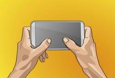 Λαβή χεριών Twot κινητή Στοκ Εικόνες