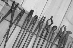 Λαβίδες σιδηρουργών στο κατάστημα Στοκ Εικόνες