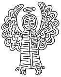 λαβύρινθος αγγέλου Στοκ φωτογραφία με δικαίωμα ελεύθερης χρήσης