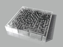 λαβύρινθος γυαλιού διανυσματική απεικόνιση