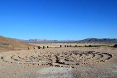 Λαβύρινθος ερήμων στοκ εικόνες