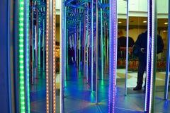 Λαβύρινθος καθρεφτών Στοκ εικόνες με δικαίωμα ελεύθερης χρήσης