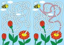 Λαβύρινθος μελισσών Στοκ φωτογραφίες με δικαίωμα ελεύθερης χρήσης