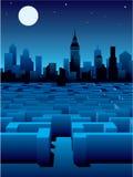 λαβύρινθος πόλεων ελεύθερη απεικόνιση δικαιώματος