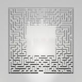 Λαβύρινθος στο γκρίζο υπόβαθρο Έννοια για τη λήψη αποφάσεων Στοκ εικόνα με δικαίωμα ελεύθερης χρήσης