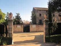 Λαβύρινθος Horta πάρκων «στη Βαρκελώνη στοκ φωτογραφία
