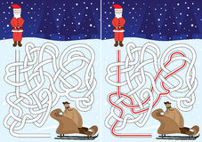 Λαβύρινθος Santa Στοκ φωτογραφία με δικαίωμα ελεύθερης χρήσης