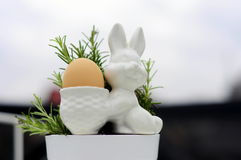 Λαγουδάκι και δεντρολίβανο 2 αυγών Στοκ φωτογραφία με δικαίωμα ελεύθερης χρήσης