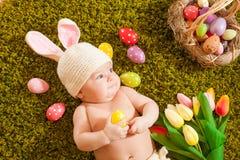 Λαγουδάκι Πάσχας μωρών Στοκ Εικόνα