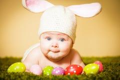 Λαγουδάκι Πάσχας μωρών Στοκ Φωτογραφίες