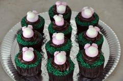 Λαγουδάκι Πάσχας cupcakes Στοκ Εικόνες