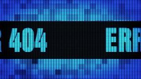 ΛΑΘΟΣ 404 μπροστινό κείμενο που τυλίγει τον πίνακα σημαδιών οθόνης τοίχων των οδηγήσεων ελεύθερη απεικόνιση δικαιώματος