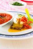 Λαθραίο αυγό σε ένα ψημένο ψωμί Στοκ εικόνες με δικαίωμα ελεύθερης χρήσης